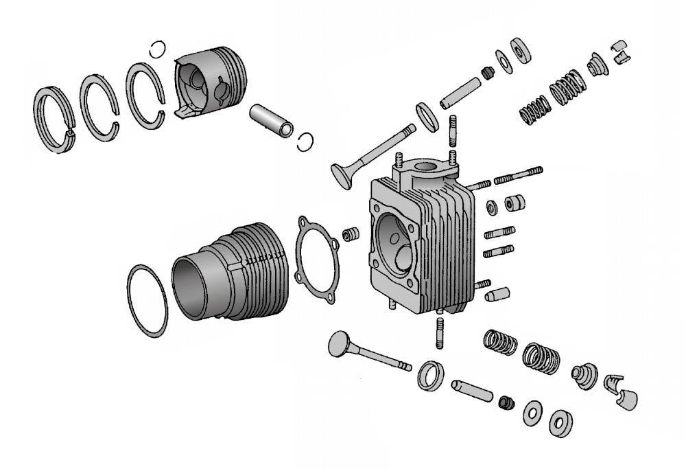 Kolben, Zylinder & Kolbenstätze
