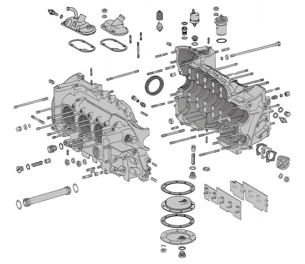 Motorblock & Halterungen