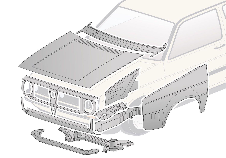 Paneles de carroceria delanteros