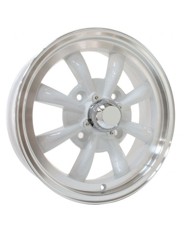 SSP GT 8 Spoke  Alloy Wheel White 5.5Jx15'' with 4x130 Stud Pattern ET30