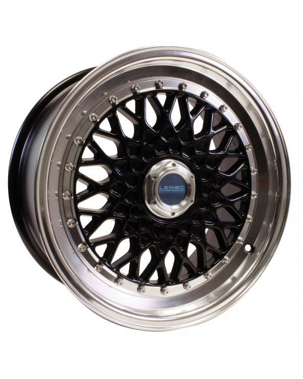 Lenso BSX Alloy Wheel 7.5Jx16 ET25 4x100 Stud Pattern Black Polished